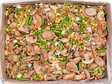 """Смесь """"Лобио с грибами"""" (шампиньоны, морковь кубик, фасоль стручковая, лук кубик, кукуруза) замороженная, фото 2"""