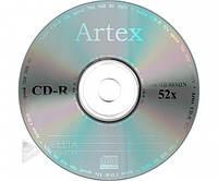 Диск для записи CD-R Artex 700Mb 52x bulk 50 серебряный, Компакт-диск