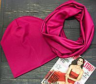 Комплект I&M Craft шапка+шарф рубиновый (090208)