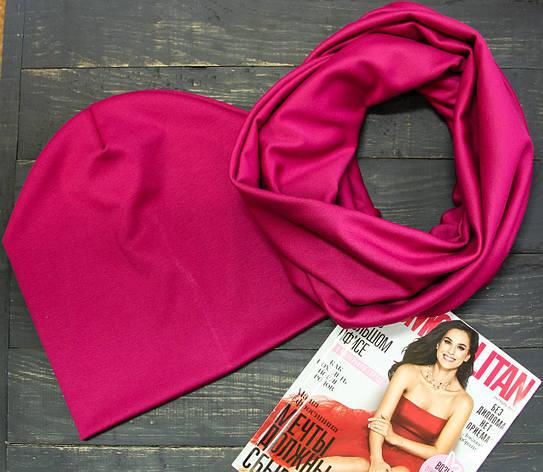 Комплект шапка+шарф I&M 090208 - рубиновый, фото 2