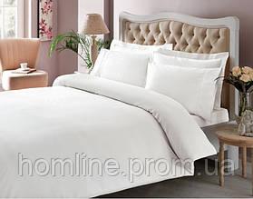 Постельное белье Tac Premium Basic Stripe белое евро размер