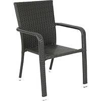 Кресло из искусственного ротанга HYC-1702 коричневое N11029577