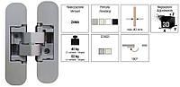 Петля Kombi S30 DXSX мат. хром
