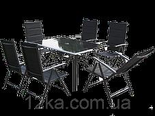 Садовая мебель 6+1  FURNIDE алюминий, фото 3