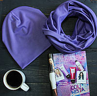 Комплект I&M Craft шапка+шарф сиреневый (090209)