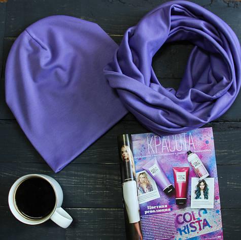Комплект I&M Craft шапка+шарф сиреневый (090209), фото 2