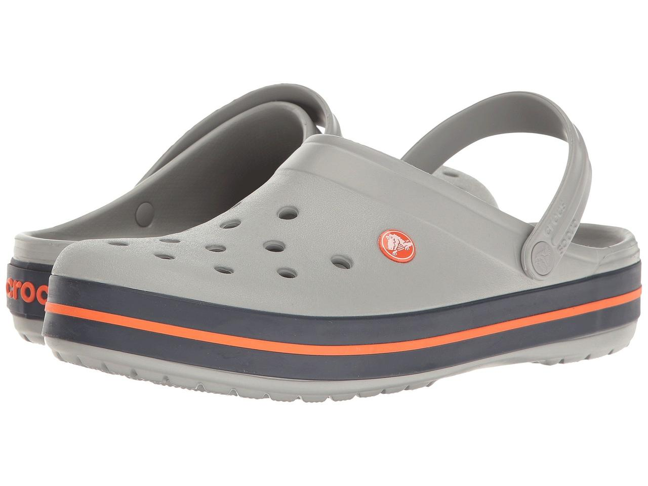 Сабо (Оригинал) Crocs Crocband Clog Light Grey Navy - TopUSA