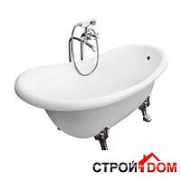 Отдельностоящая ванна на ножках Besco PMD Piramida Otylia 160x77 белая, ножки хром