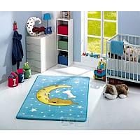 Ковер в детскую комнату Confetti - Moon голубой 100*160