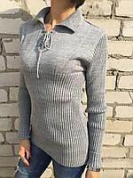 Свитер женский Турция светло-серый