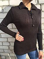 Свитер женский Турция темно-коричневый