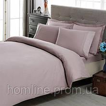 Постельное белье Tac Premium Basic Stripe лиловое евро размер