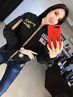 Куртка женская с декором нашивки и накатка, фото 1