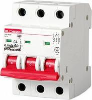 Автоматический выключатель e.mcb.pro.60.3.C 4 new 3р 4А C 6кА new, фото 1