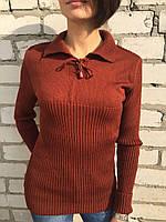 Свитер женский Турция коричневый