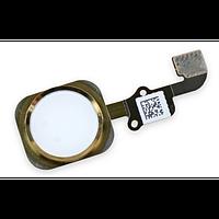 Шлейф с наружной кнопкой home iPhone 6, 6 Plus, цвет золотой