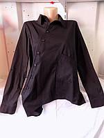 Рубашка женская с длинным рукавом косуха на пуговицах черная