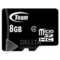 Карта памяти MicroSD 8Gb Team без адаптера class 4, Носитель информации MicroSD 8Gb