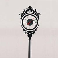 """Декоративная виниловая наклейка  FERON NL34, Часы-наклейка  """"уличные часы"""" 1*AА батарея( в комплект не входит)"""