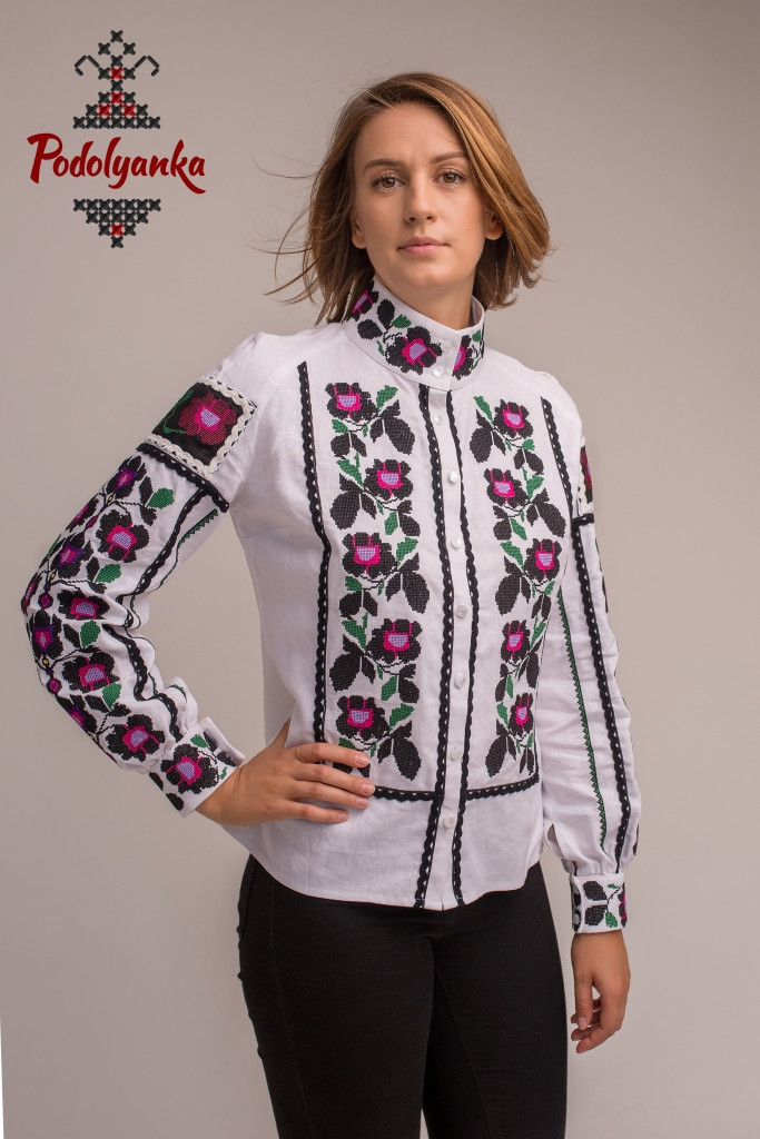 Жіноча вишита сорочка Чорна квітка - Podolyanka в Львове ef71c8c4d7853