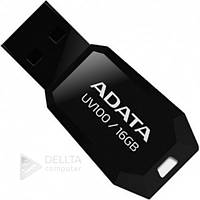 Флешка Flash ADATA UV100 16Gb black USB 2.0, Носитель информации UV100 16Gb black