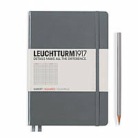 Блокнот Leuchtturm1917 Средний (A5) Антрацит с Чистыми листами (14,5х21 см) (344785), фото 1