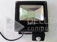 Прожектор LED с датчиком FL-20W-S, 750 лм, IP 67, сеть, 6400 К, Светодиодный прожектор