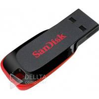Накопитель USB 2.0 SanDisk Cruzer Blade 128Gb Black/Red, USB флеш-накопитель Cruzer Blade 128Gb