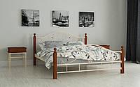 Кровать кованная с дерев'яными ножками Гледис