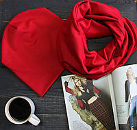 Комплект шапка+шарф I&M 090205 - красный