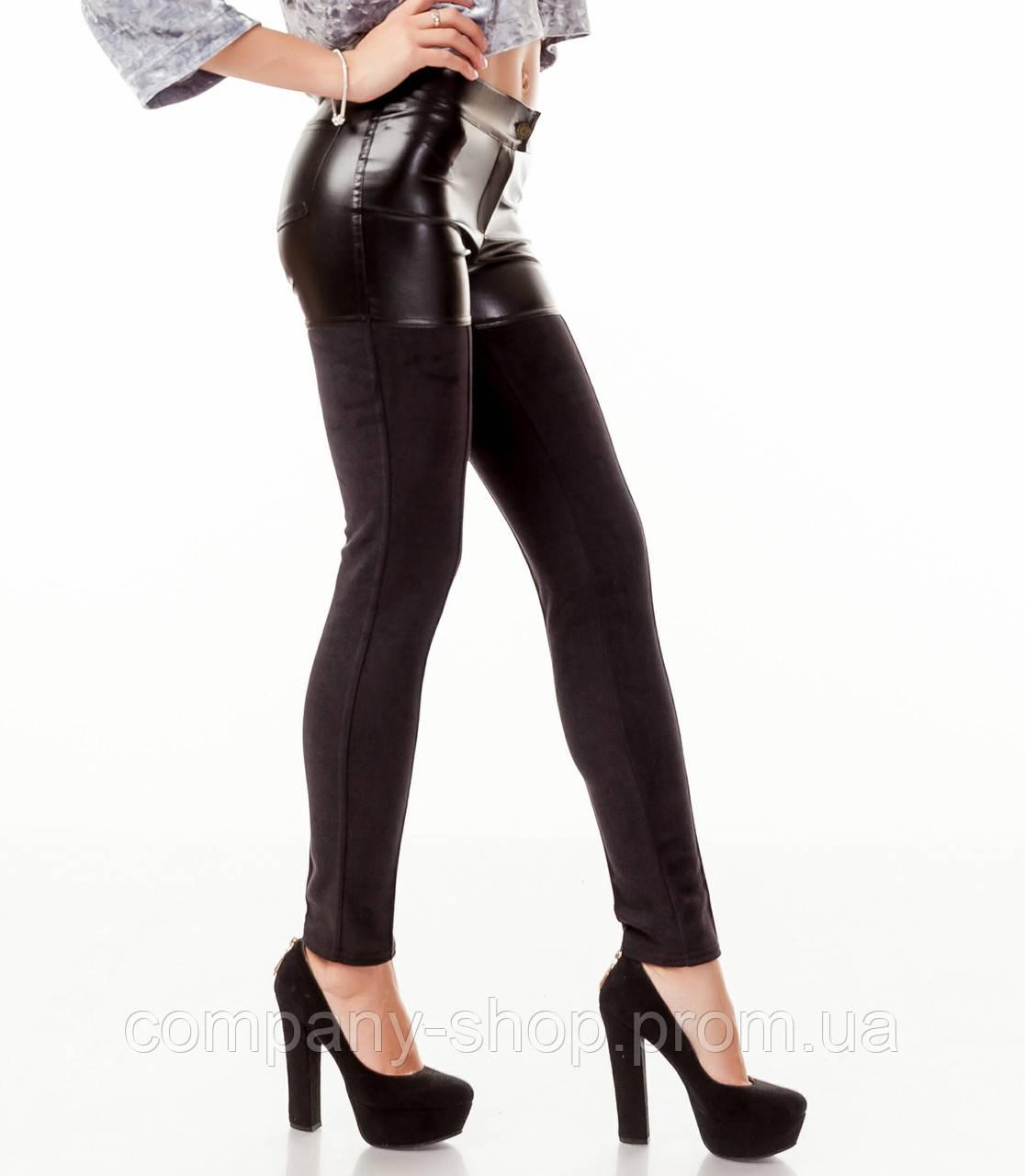 ec7600bafbb67 Леггинсы-брюки комбинированные оптом. Модель L084_черный.: продажа ...
