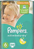 Active baby dry р.6 54шт. Pampers подгузники для детей