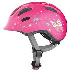 Велошлем детский ABUS SMILEY 2.0 Pink Butterfly (S)