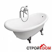Отдельностоящая ванна на ножках Besco PMD Piramida Otylia 170x77 белая, деревянная опора
