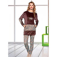 Домашняя одежда Lady Lingerie - Велюровый костюм 15575 XL