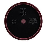 Мeguiar's WRFC7 Rotary Foam Cutting Pad 7'' Роторный поролоновый круг жесткий бордовый, 17,8 см.