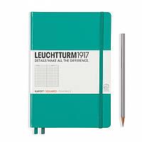 Блокнот Leuchtturm1917 Средний (A5) Изумрудный с Чистыми листами (14,5х21 см) (344793) (4004117424809), фото 1