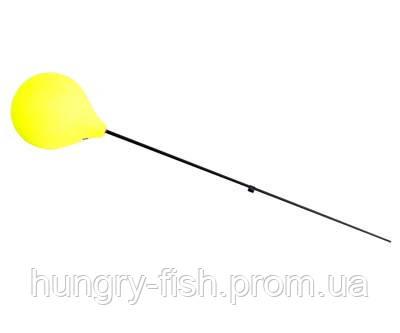 Удильник зимний Flagman Балалайка с пенопластовой ручкой желтый