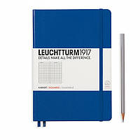 Блокнот Leuchtturm1917 Средний (A5) Королевский синий В точку (14,5х21 см) (344747), фото 1