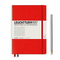 Блокнот Leuchtturm1917 Средний (A5) Красный В клетку (14,5х21 см) (312564), фото 1