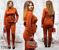 Модный деловой брючный костюм больших размеров 48 - 54