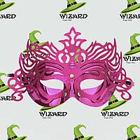 Венецианская маска Изабелла малиновая