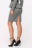 Юбка 6096, юбка коттоновая, юбка прямая, черная юбка прямая, дропшиппинг