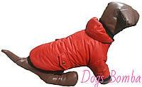 Куртка для собак красная