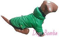 Куртка для собак зеленая