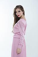 Джемпер полушерсть розовый