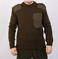 Теплый мужской вязаный свитер