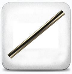 Труба гладкая 16 мм 1,2 м, хром/мат