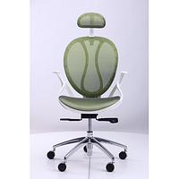 Кресло Lotus HR пластик белый/сетка зеленая (AMF-ТМ)