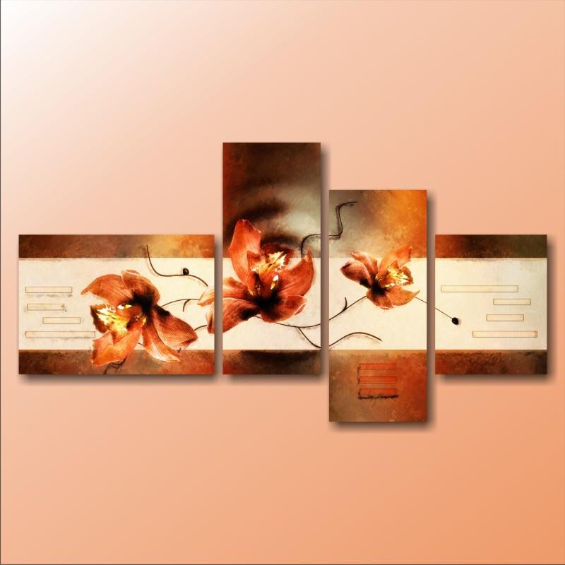 """Модульна картина """"Три орхідеї на гілочці"""""""